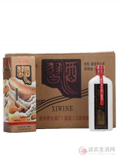 2011年53度习酒方瓶出口装一箱图片