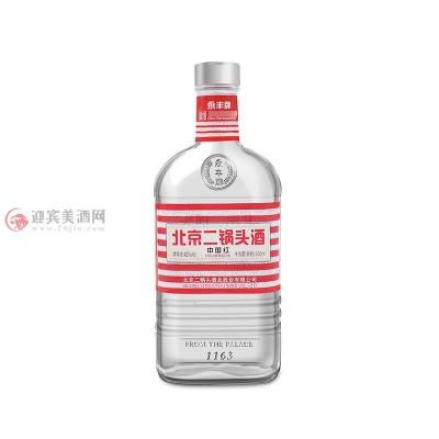 42度北京二锅头白酒中国红一箱图片