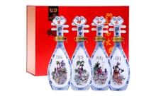 礼盒装53度杏花村镇四大美女琵琶酒245mlx4瓶