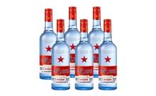 53度北京红星二锅头蓝瓶绵柔8白酒一箱