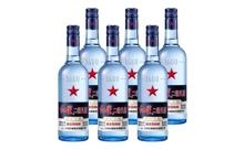43度北京红星二锅头蓝瓶绵柔8酒一箱