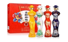 53度山西杏花古韻旗袍原漿白酒258mlx4瓶