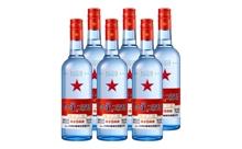 53度红星二锅头蓝瓶绵柔8高度白酒一箱