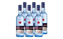 43度红星二锅头蓝瓶绵柔8一箱