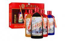 礼盒装52度贵州茅台镇流金记忆白酒500mlx4瓶