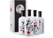 52度湘泉四君子酒中妙品梅兰竹菊酒500ml